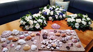 Sea Shells and Wreaths for Sea Scattering